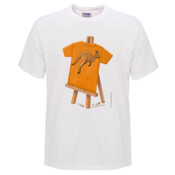 Kangaroo T-Shirt Painted on Easel - Mens Surf Style TShirt