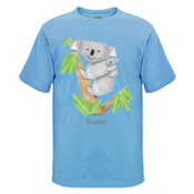 Cuddly Koala with cute Baby Origami - Mens Surf Style TShirt