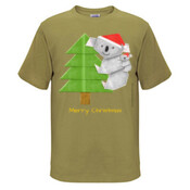 Christmas Origami Koala and cute baby - JK Christmas Kids Surf Tee