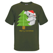 Christmas Origami Koala and cute baby - JK Christmas Mens Surf Style TShirt
