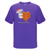 Koala Origami and its Heart gift wrapped for Christmas - Mens Surf Style TShirt - JK Christmas Kids Surf Tee