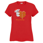 Koala Origami and its Heart gift wrapped for Christmas - Mens Surf Style TShirt - JK Christmas Ladies Surf Tshirt