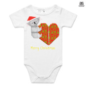 Koala Origami and its Heart gift wrapped for Christmas - Mens Surf Style TShirt - ASColour Baby Onesie
