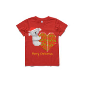 Koala Origami and its Heart gift wrapped for Christmas - Mens Surf Style TShirt - ASColour Small Kids T-Shirt