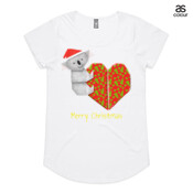 Koala Origami and its Heart gift wrapped for Christmas - Mens Surf Style TShirt - ASColour Ladies Mali T Shirt