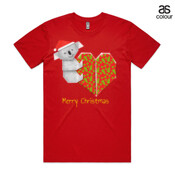 Koala Origami and its Heart gift wrapped for Christmas - Mens Surf Style TShirt - ASColour Men's Staple Tee
