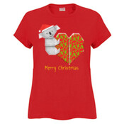 Koala Origami and its Heart gift wrapped for Christmas - Mens Surf Style TShirt - Sportage Ladies Surf Style T Shirt