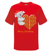 Koala Origami and its Heart gift wrapped for Christmas - Mens Surf Style TShirt - Kids Regular Surf Style Tee