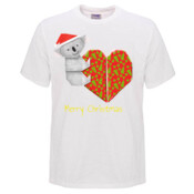 Koala Origami and its Heart gift wrapped for Christmas - Mens Surf Style TShirt - Mens Promo Event T Shirt