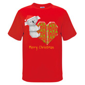 Koala Origami and its Heart gift wrapped for Christmas - Mens Surf Style TShirt - Mens Surf Style TShirt