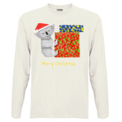 Koala Origami and colorful Christmas Gift boxes - Men's 'Sportage Hawkins' Long Sleeve Tee