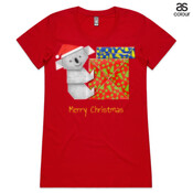 Koala Origami and colorful Christmas Gift boxes - ASColour Ladies Wafer TShirt