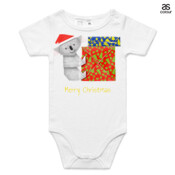 Koala Origami and colorful Christmas Gift boxes - ASColour Baby Onesie