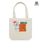 Koala Origami and colorful Christmas Gift boxes - Canvas Tote Carry Bag