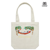 Well Deserved Christmas Break - Koala Relaxing on Hammock  - Canvas Tote Carry Bag