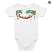 Well Deserved Christmas Break - Koala Relaxing on Hammock  - ASColour Baby Onesie