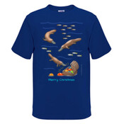 Platypus Christmas Treasure - Mens Surf Style TShirt