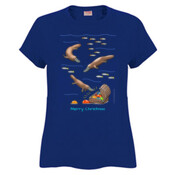 Platypus Christmas Treasure - Sportage Ladies Surf Style T Shirt