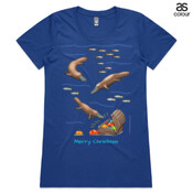 Platypus Christmas Treasure - ASColour Ladies Wafer TShirt
