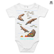 Platypus Christmas Treasure - ASColour Baby Onesie