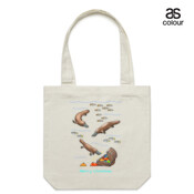 Platypus Christmas Treasure - Canvas Tote Carry Bag