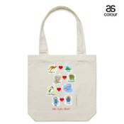 Who eats what? (Boy) - Canvas Tote Carry Bag