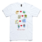 Who eats what? (Boy) - AS Colour Light Weight Paper Tee