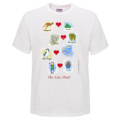 Who eats what? (Boy) - Mens Promo Event T Shirt