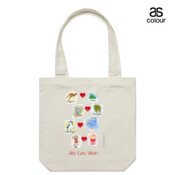 Who eats what? (Girl) - Canvas Tote Carry Bag