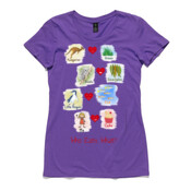 Who eats what? (Girl) - ASColour Ladies Wafer TShirt