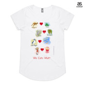 Who eats what? (Girl) - ASColour Ladies Mali T Shirt