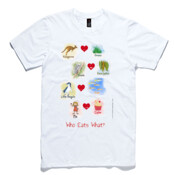 Who eats what? (Girl) - AS Colour Light Weight Paper Tee