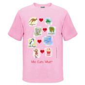 Who eats what? (Girl) - Kids Regular Surf Style Tee