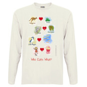 Who eats what? (Girl) - Men's 'Sportage Hawkins' Long Sleeve Tee