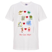 "Who eats what? (Girl) - Mens ""Gemini"" Regular V Neck T-Shirt"