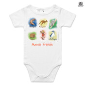 Aussie Friends (Girl) - ASColour Baby Onesie