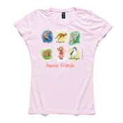 Aussie Friends (Girl) - ASColour Ladies Wafer TShirt