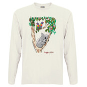 Hugging Wish - Men's 'Sportage Hawkins' Long Sleeve Tee