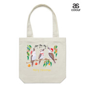 Kookaburras Australian Christmas Carols - Canvas Tote Carry Bag
