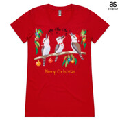 Kookaburras Australian Christmas Carols - ASColour Ladies Wafer TShirt