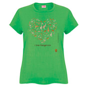 Kangaroo Heart - Ladies Fashion Tshirt
