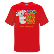 Koala Origami and colorful Christmas Gift boxes - Mens Surf Style TShirt