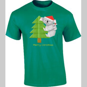Christmas Origami Koala and cute baby - Mens Surf Style TShirt