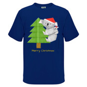 Christmas Origami Koala and cute baby - Kids Regular Surf Style Tee