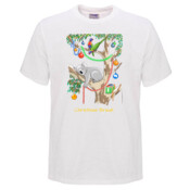 Sleeping Christmas Koala - Mens Surf Style TShirt