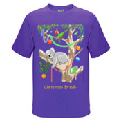 Sleeping Christmas Koala - Kids Regular Surf Style Tee