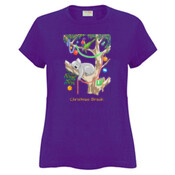Sleeping Christmas Koala - Sportage Ladies Surf Style T Shirt
