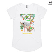 Sleeping Christmas Koala - ASColour Ladies Mali T Shirt