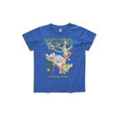 Sleeping Christmas Koala - ASColour Youth T-Shirt