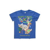 Sleeping Christmas Koala - ASColour Small Kids T-Shirt